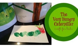 Caterpillar Craft Inspired by The Very Hungry Caterpillar