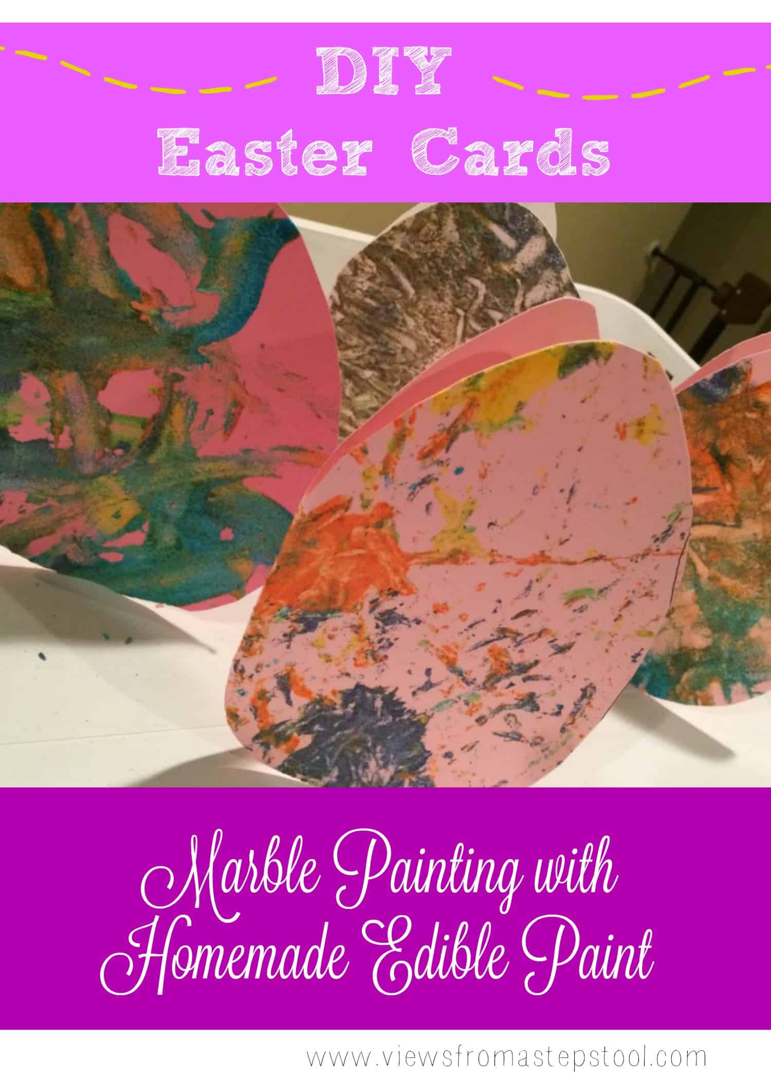 Check out how we made these DIY Easter cards baby friendly with homemade, edible paint!