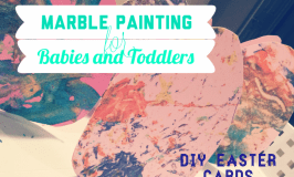 DIY Easter Cards: Marble Painting with Homemade Paint