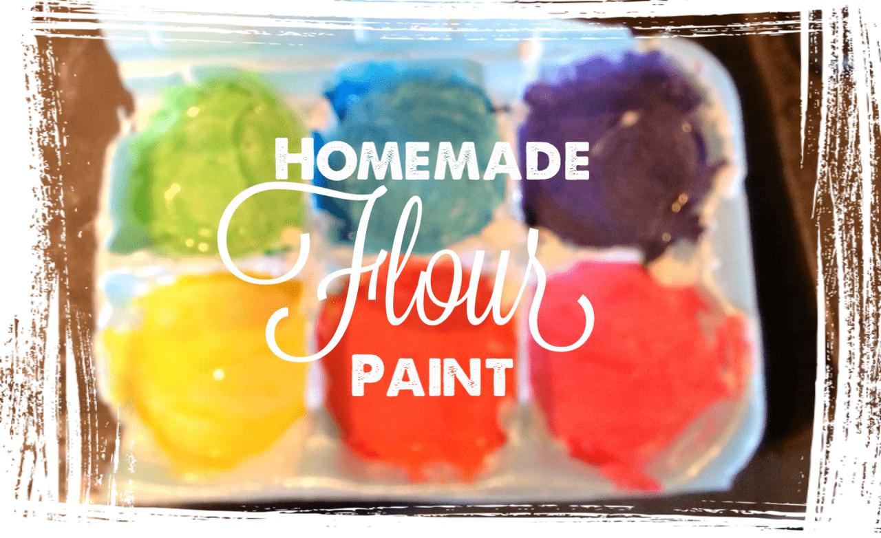 Homemade Flour Paint
