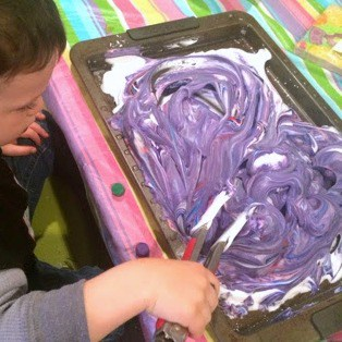 This sensory egg dyeing activity is such a great way for kids to get messy and celebrate Easter! Plus, a hack to make this process baby-safe!