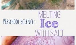 Ice Erosion Experiment: Preschool Science