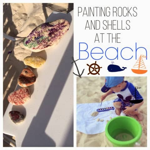 Painting Rocks and Shells at the Beach