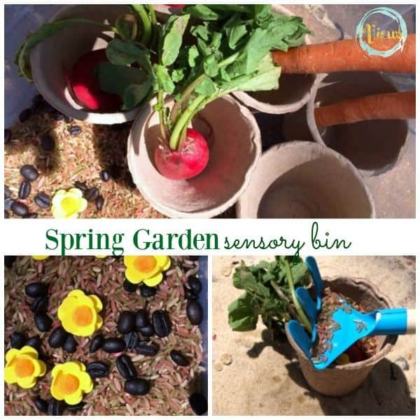 This garden sensory bin is perfect for discussing the importance of gardening and fresh fruits and veggies with kids. What a way to celebrate Spring!