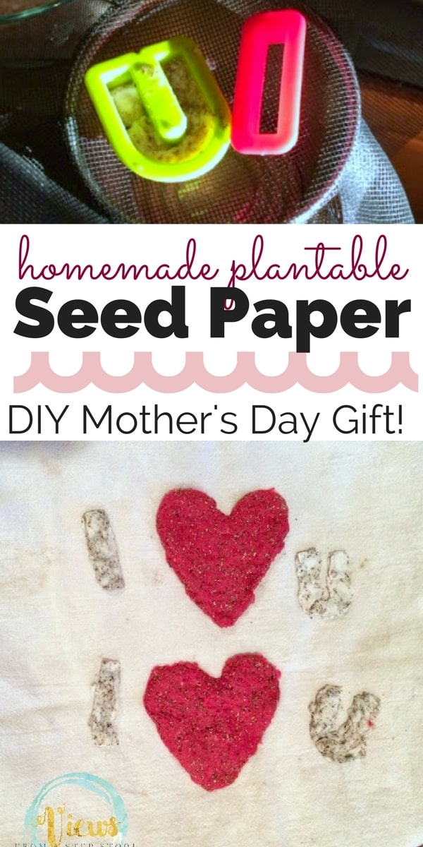 Make homemade seed paper as a simple, yet perfect, DIY Mother's Day gift! Who knew you could turn construction paper into this?!