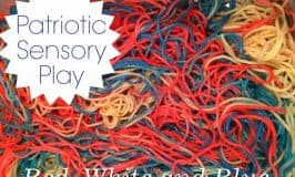 Red, White and Blue Spaghetti: Edible Sensory Play