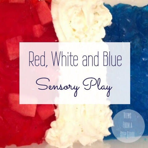 Red, White and Blue Sensory Play