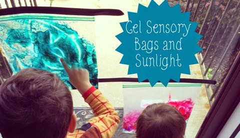 Gel Sensory Bags and Sunlight for Young Kids