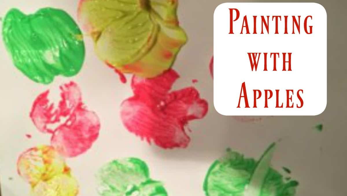 Painting with Apples: A Fun, Fall Art Project