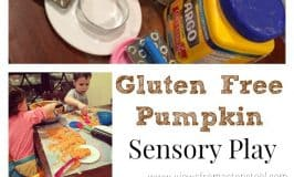 Gluten Free Edible Pumpkin Sensory Play