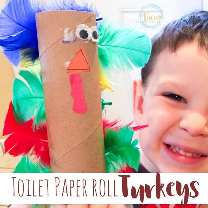 Toilet Paper roll turkeys fb