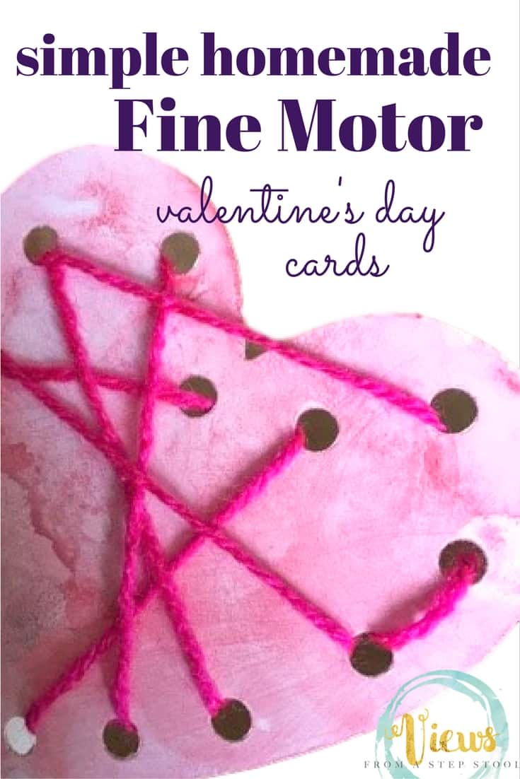 Homemade Valentine 39 S Day Cards With Fine Motor Practice