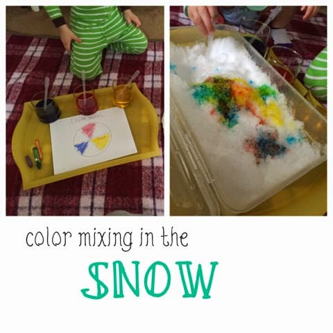 Color Mixing in the Snow
