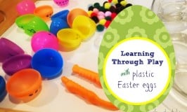 Plastic Easter Egg Counting Game for Preschoolers