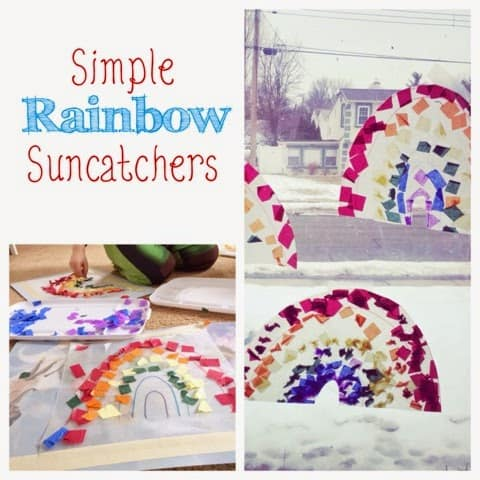 Rainbow Suncatchers – A Kid-Made Spring Activity