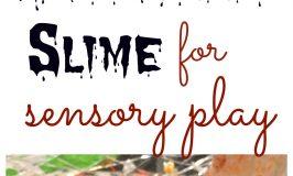 Halloween Slime for Sensory Play
