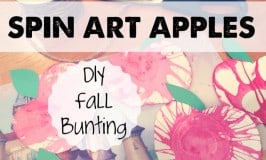 Spin Art Apple Bunting!! DIY Festive Fall Decor