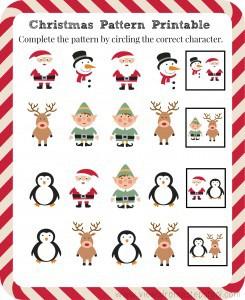 FREE Christmas Pattern Printable