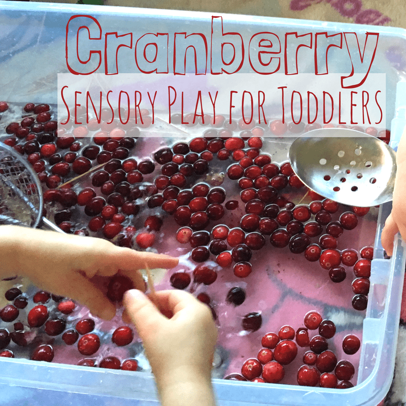 Cranberry sensory play square