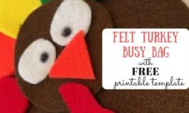 Felt Turkey Busy Bag with Free Printable Template