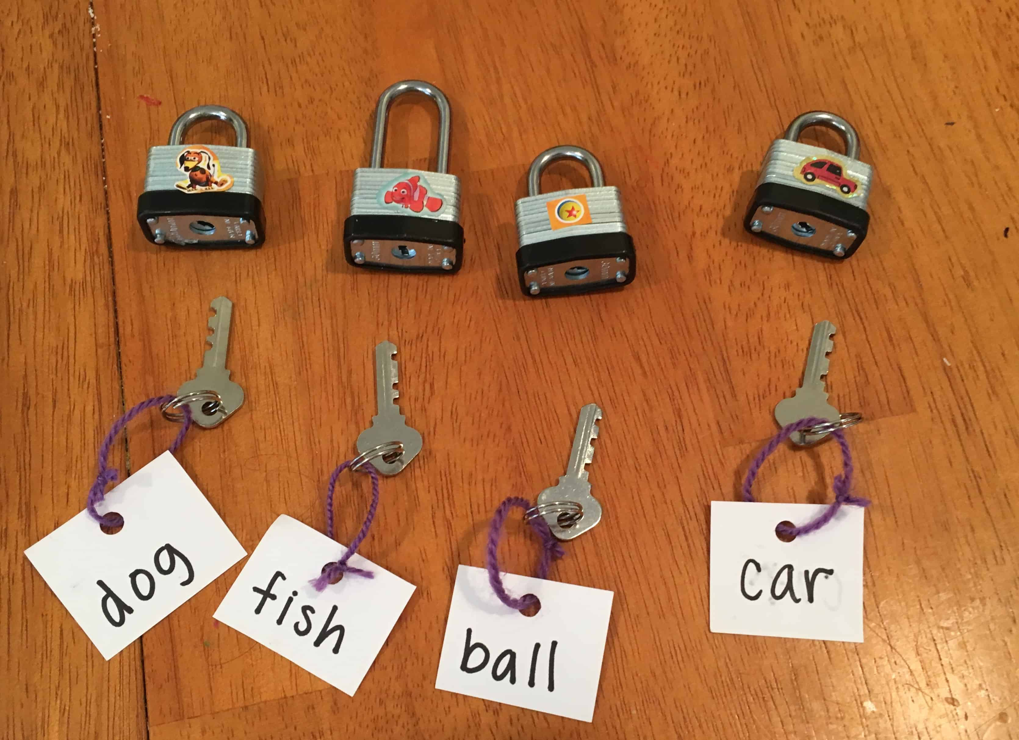 Simple Sight Word Game With Locks And Keys Views From A Step Stool Combination Lock This Uses Padlocks To Make Learning Read Fun