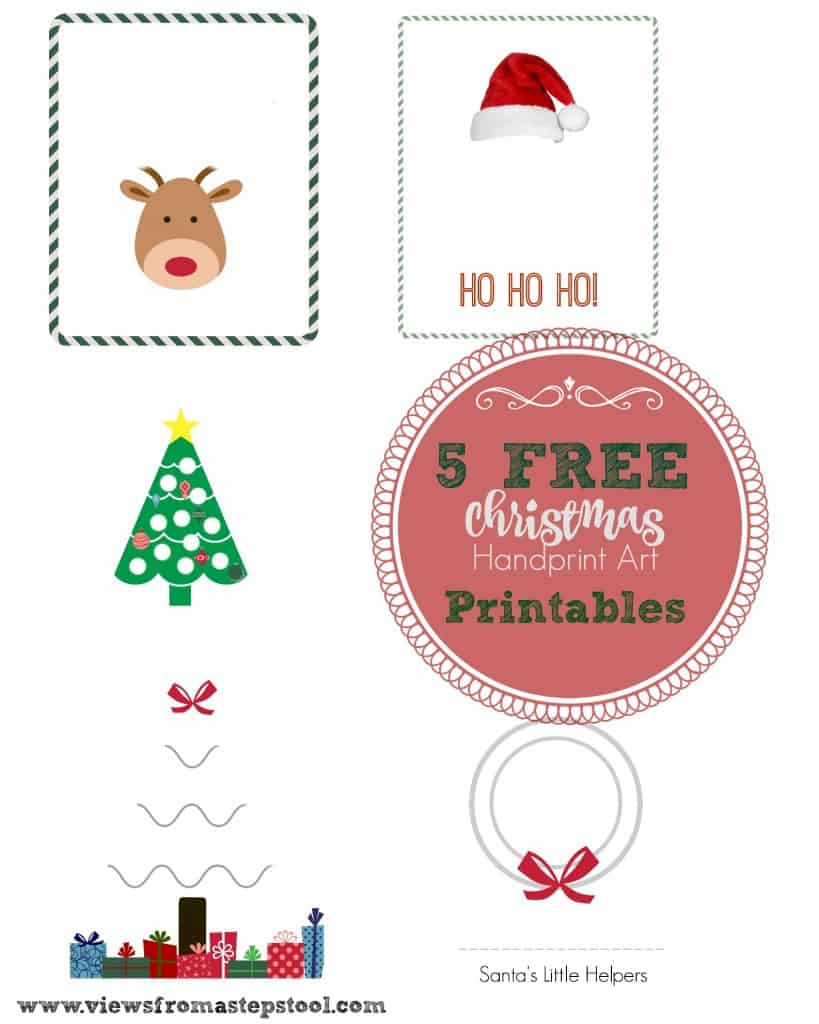 These Christmas handprint art templates are perfect for making homemade cards or artwork. Kids will have so much fun making these!