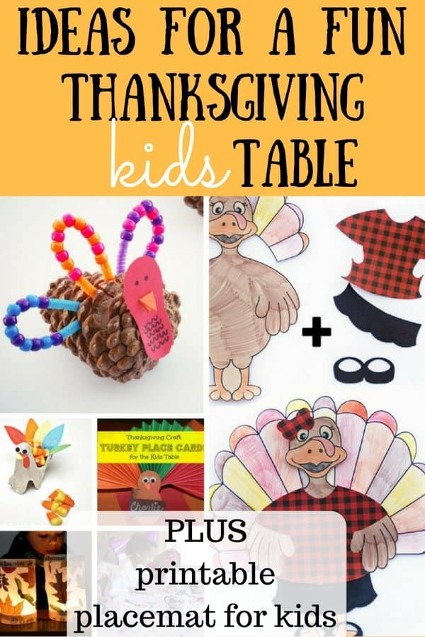 This printable Thanksgiving placemat for kids will keep your kids busy and having fun on Thanksgiving Day! Plus, check out the fun ideas for a kids table! BONUS free printable place cards for adults too!