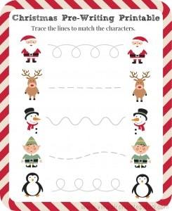 FREE Pre-Writing Christmas Printable