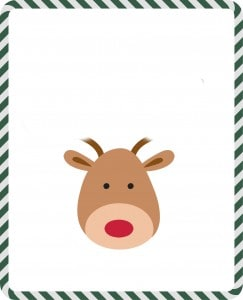 Add handprint antlers to this template to make an adorable reindeer.