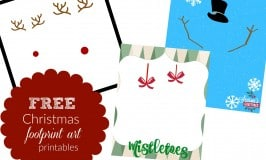 3 Christmas Footprint Art Templates: Free Printables