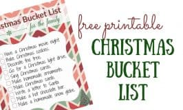 Christmas Bucket List with FREE Printable