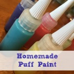 Homemade puff paint is the perfect boredom buster for kids of all ages! Combine a few simple pantry items to make this art + science fun!