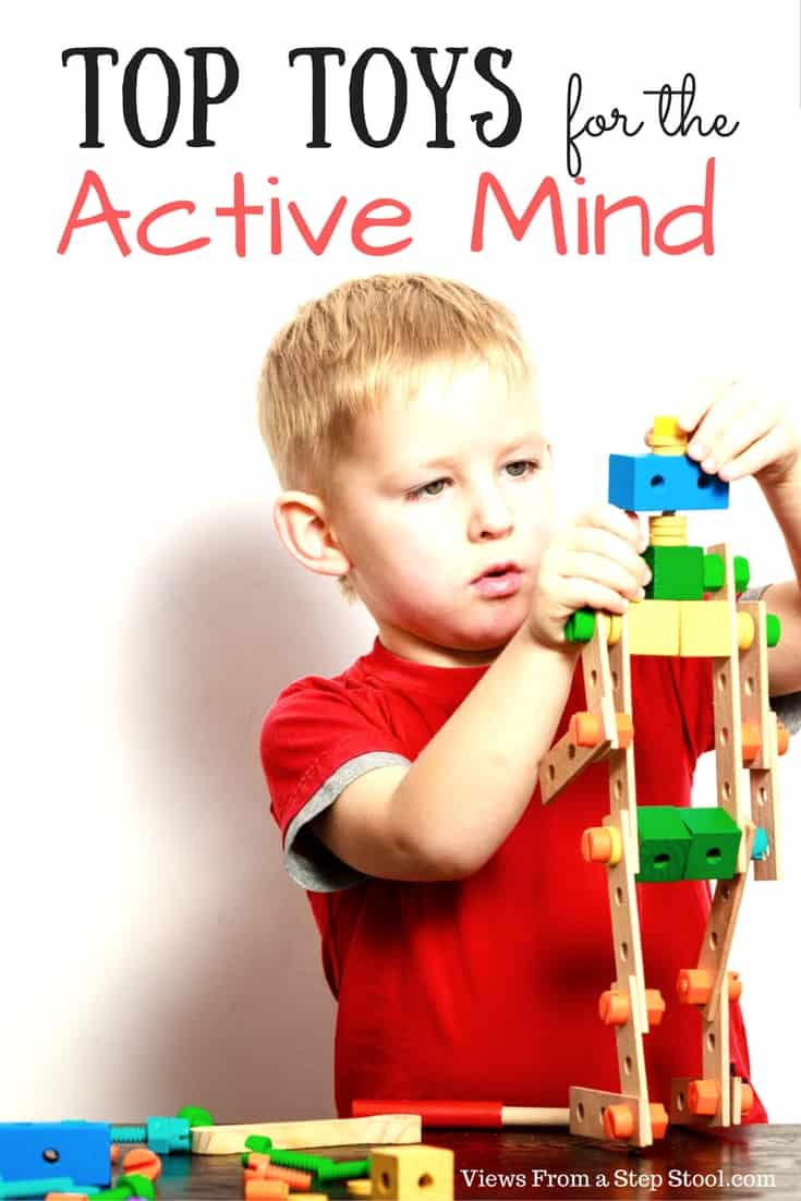 This gift guide for the active mind includes toys that inspire creativity, critical thinking, logic and active participation in play.