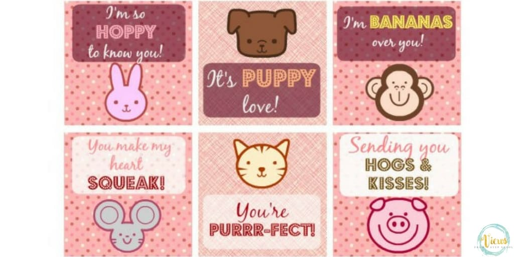 printable animal valentine's day cards - views from a step stool, Ideas