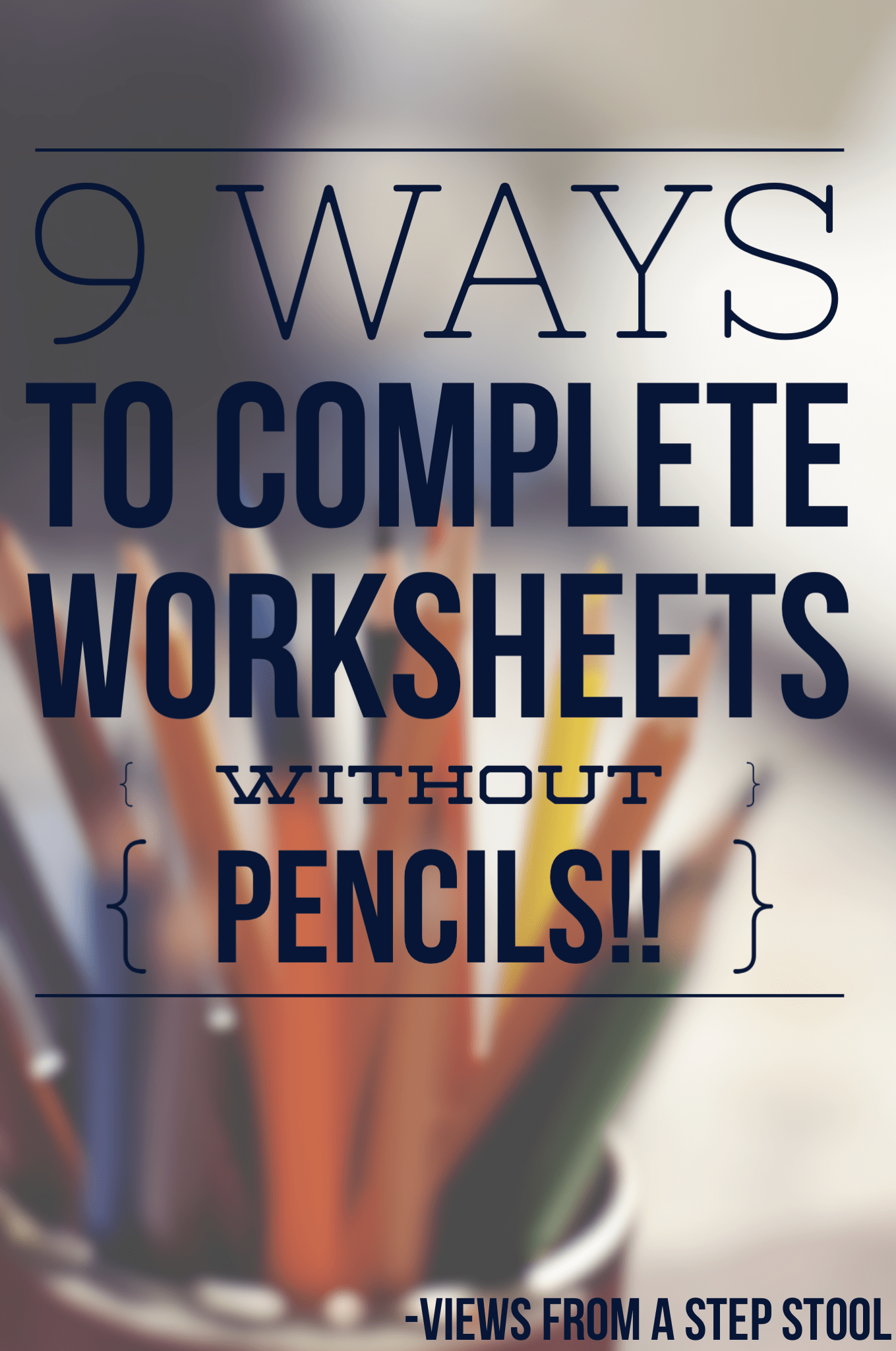 9 Ways to Complete Worksheets WITHOUT a Pencil! FREE Christmas Printables