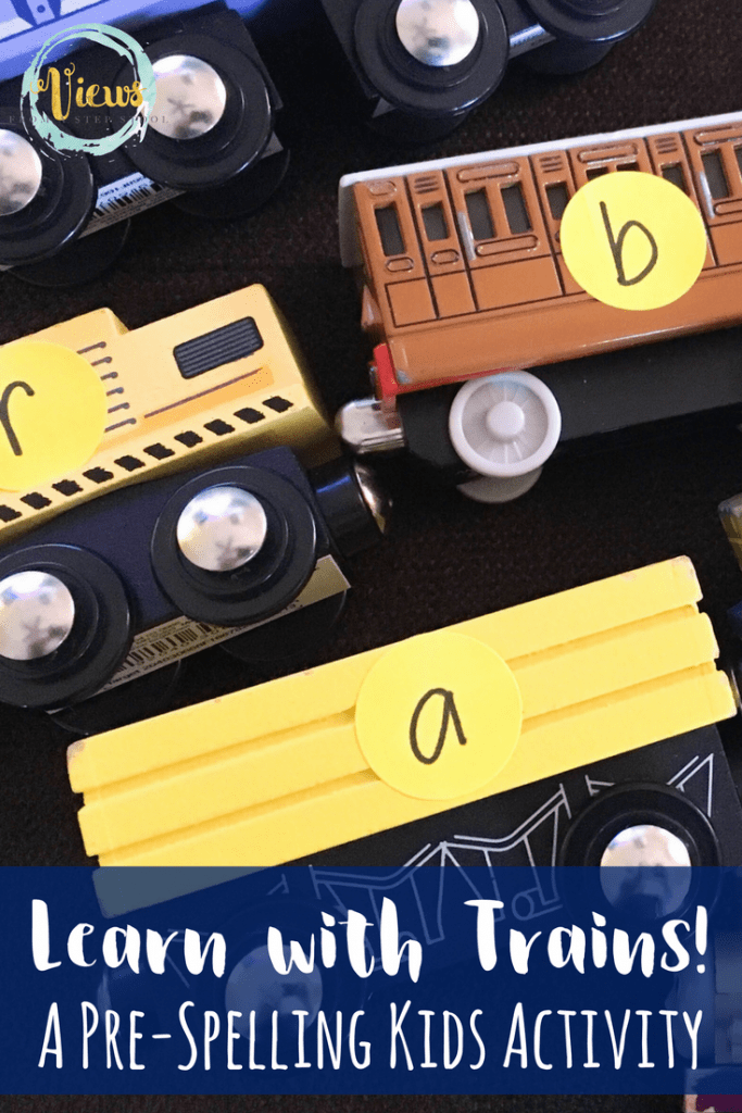 This simple, hands-on, activity uses learning with trains to practice pre-spelling by catering to the child's interest to work on this early literacy skill.