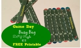 Game Day Busy Bag: DIY Football Field Puzzle with FREE Printable