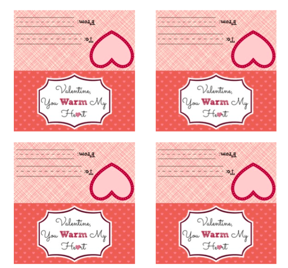 Print this FREE printable and attach to a bag of hot chocolate and marshmallows for a simple Valentine! They would be great with homemade hot chocolate powder and heart shaped marshmallows!