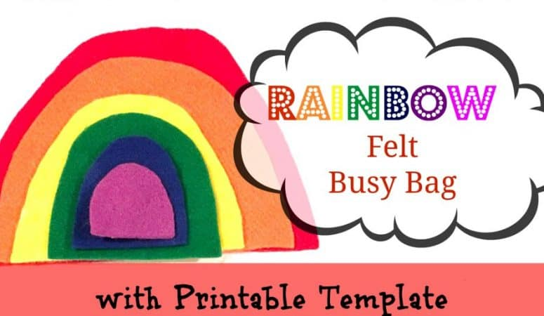 Felt Rainbow Busy Bag with Printable Template