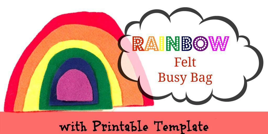 Felt Rainbow Busy Bag with Printable Template