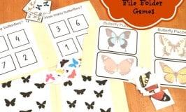 Butterfly File Folder Games:Free Printable!