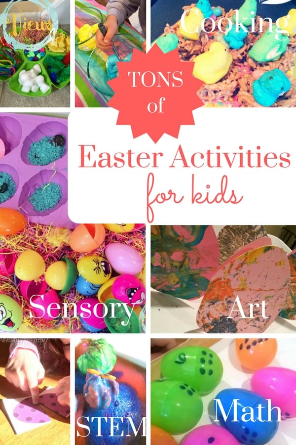 Tons of great Easter activities for kids from sensory, arts, STEM, cooking and more!