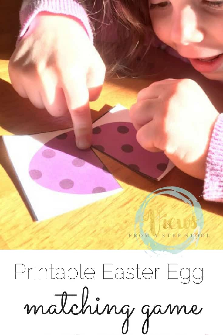 This printable Easter egg game for toddlers and preschoolers can be used as a puzzle and matching game or a memory game! Great as a busy bag!