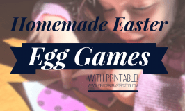 Homemade Easter Egg Games for Kids with Printable