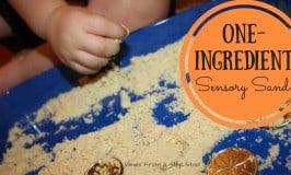 One-Ingredient Sensory Sand!