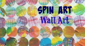 Spin Art Wall Art for Kids