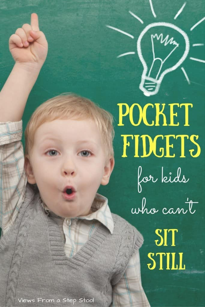 Some kids have a really hard time just sitting still, in class or at home. These pocket fidgets can be really helpful, find some that you can buy or make your own!