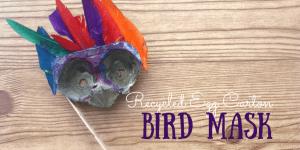 DIY Bird Mask from Recycled Egg Cartons