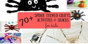 70+ Spider Themed Activities and Crafts for Kids