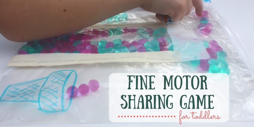 Fine Motor Sharing Game for Toddlers